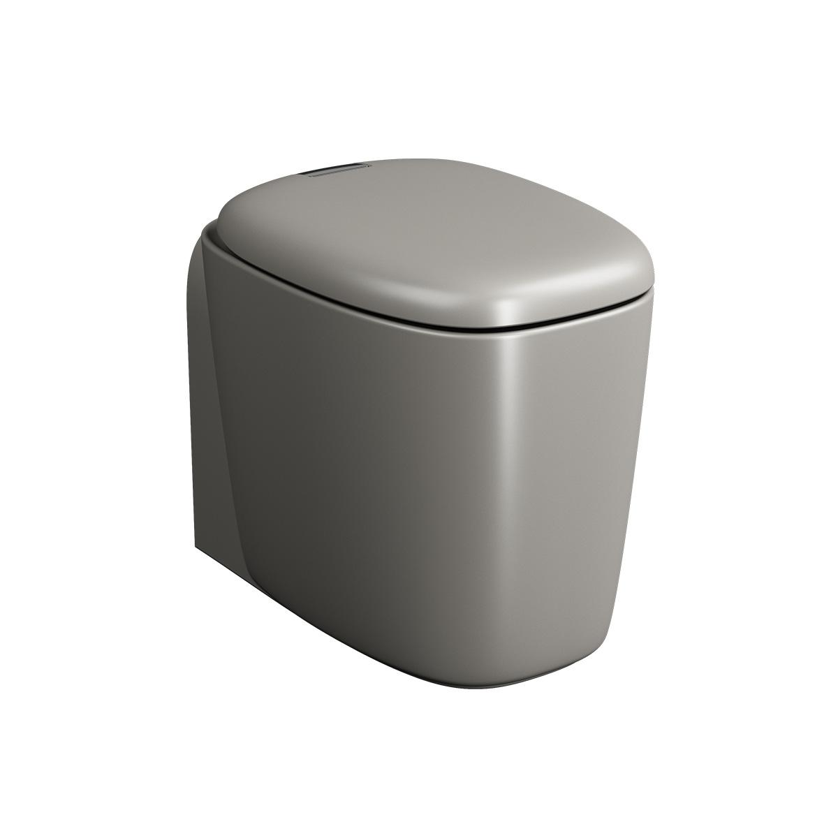 Plural WC BTW sans bride, fonction bidet, 55 cm, VC, taupe mat