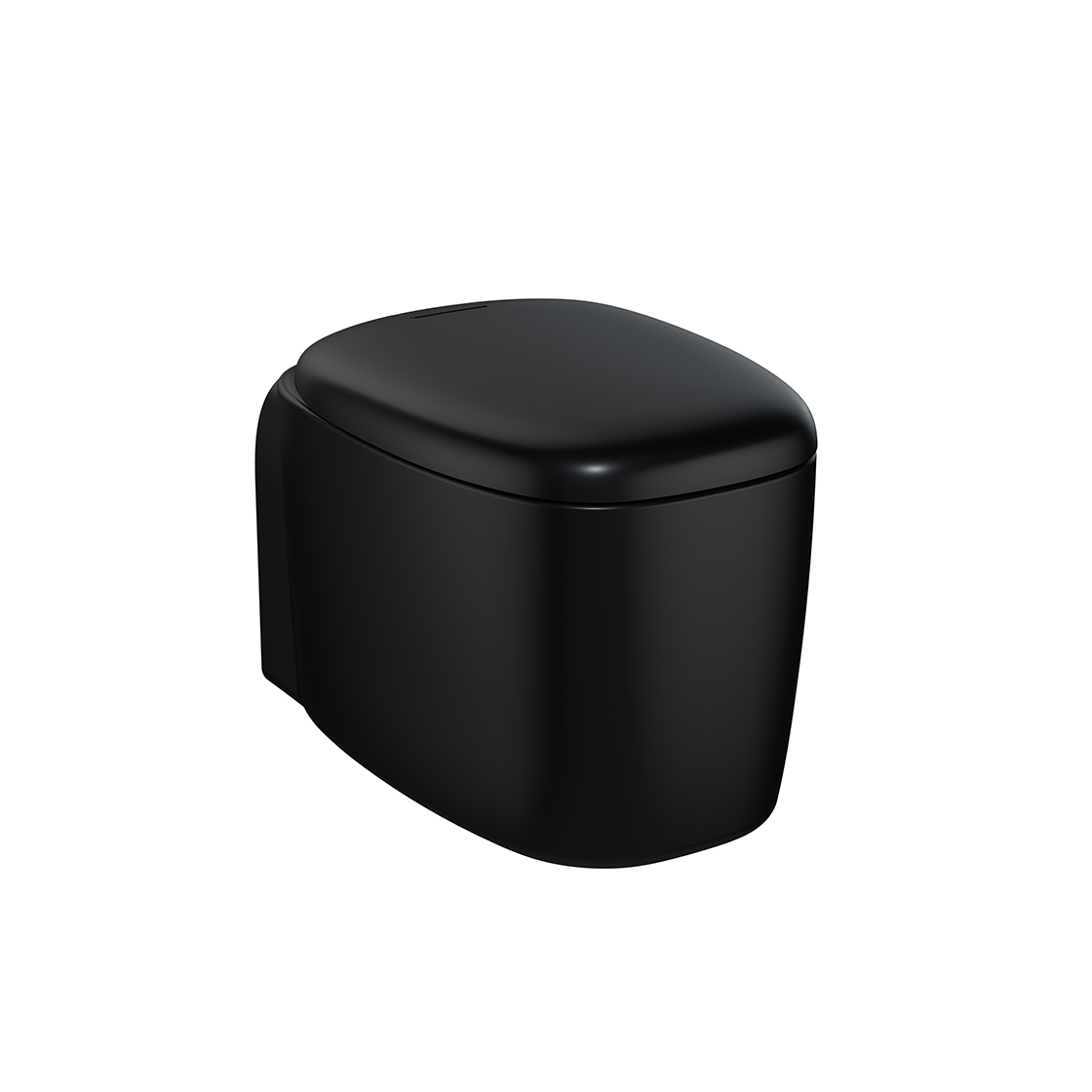Plural Wand-WC VitrA Flush 2.0, Schwarz Matt