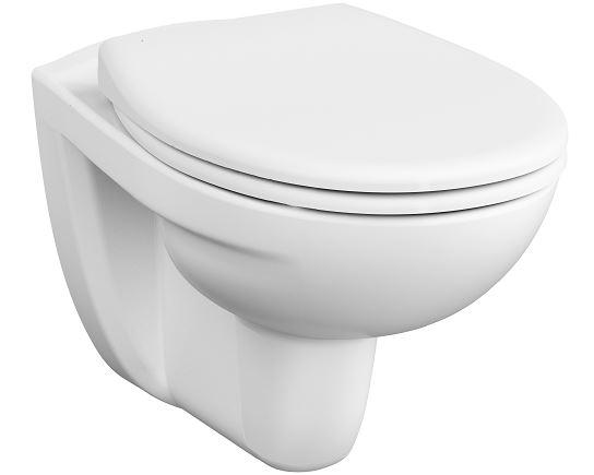 Normus SpinFlush Pack WC suspendu sans bride, capacité de chasse d'eau 6 l, avec abattant #23-003-001 sans fermeture douce