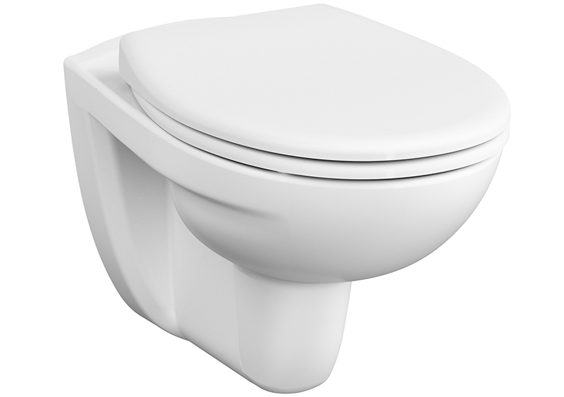 Normus SpinFlush Pack WC suspendu sans bride, 54 cm, blanc