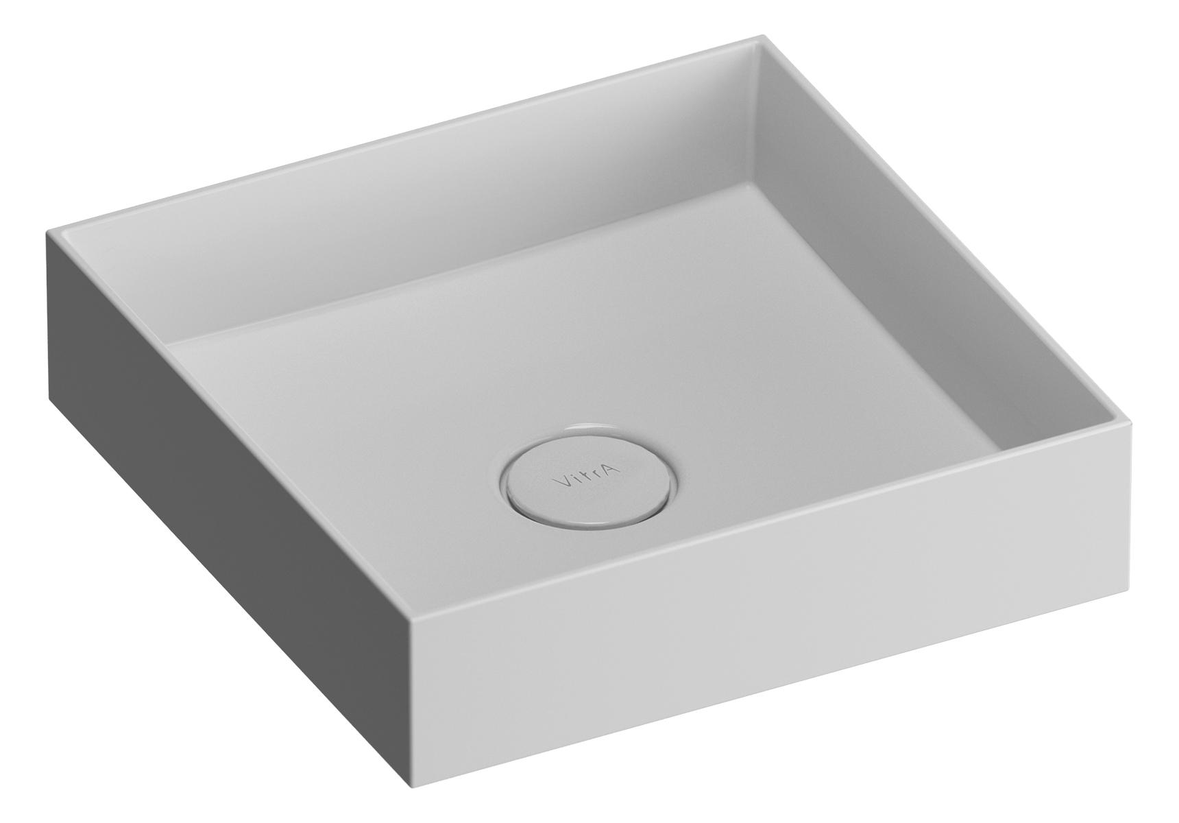 Memoria Aufsatzschale Mineralguss, quadratisch, 40 cm