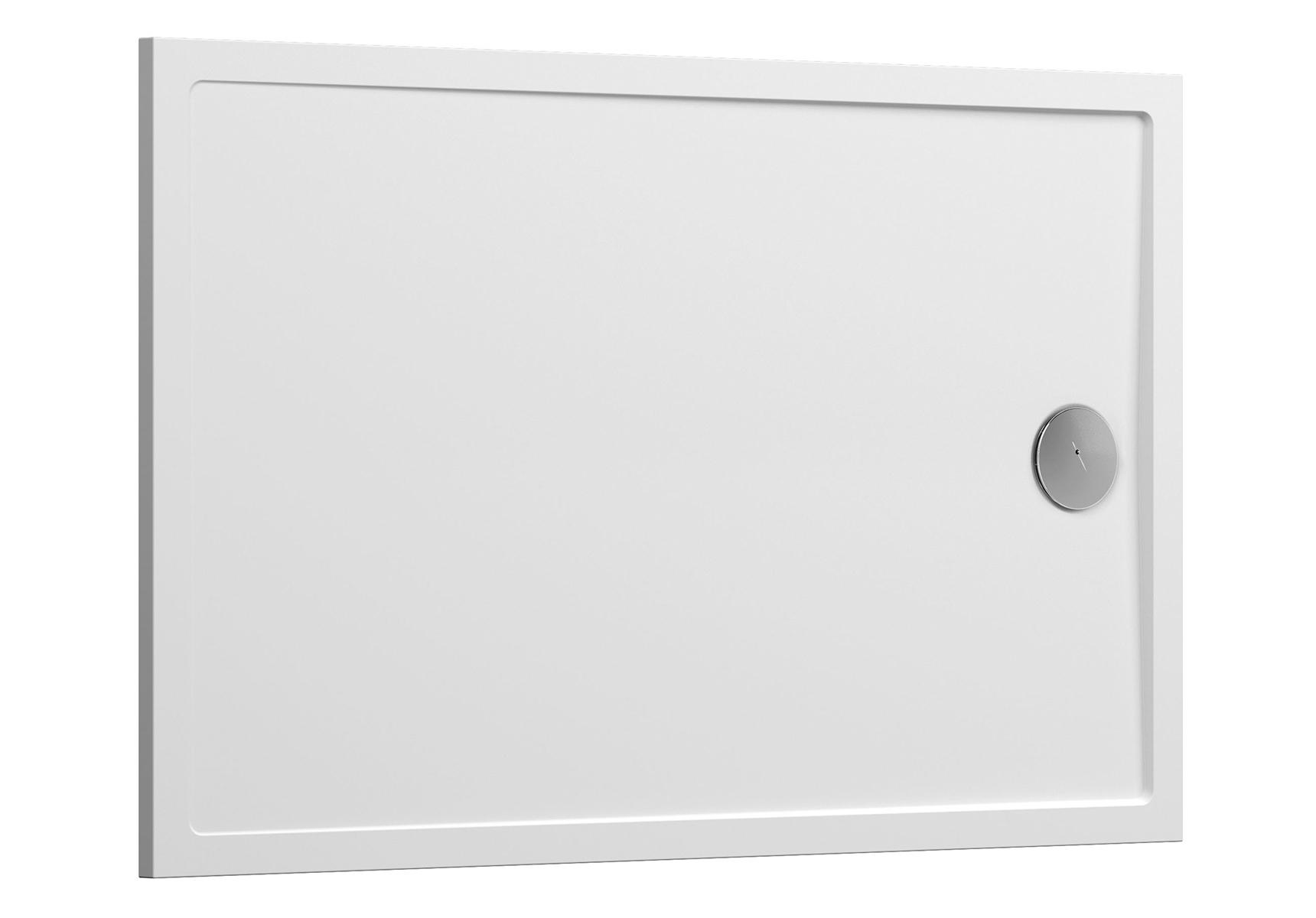 Aruna receveur ultra plat, 100  x  80 cm, à poser ou à encastrer, en pierre m³ solide