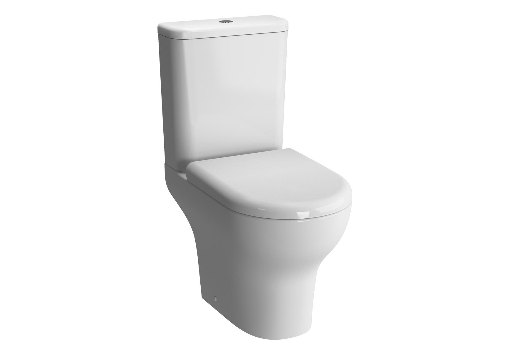 Zentrum Pack WC à poser, caréné, 61 cm, S / H, abattant Duroplast, fermeture douce