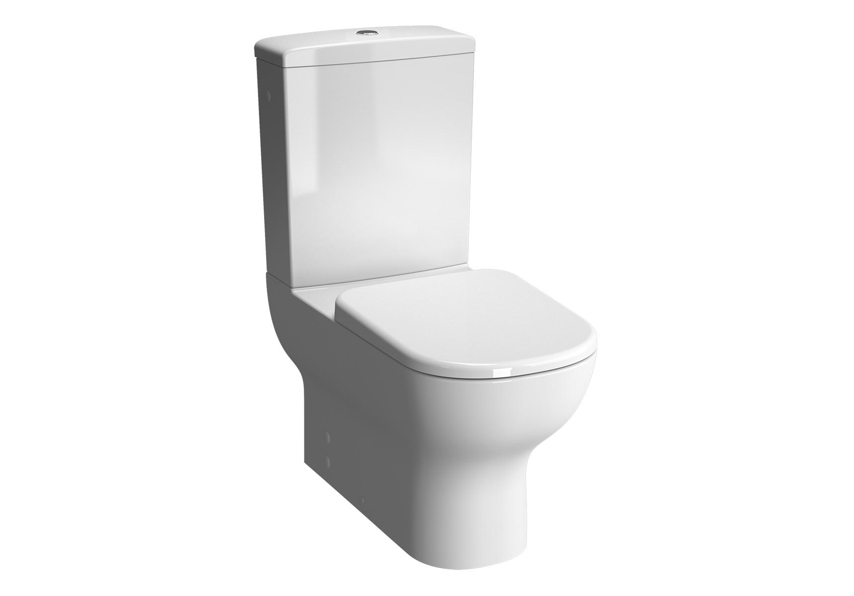 D-Light Pack WC à poser sans bride, open back, S / H, abattant Slim Duroplast, fermeture douce