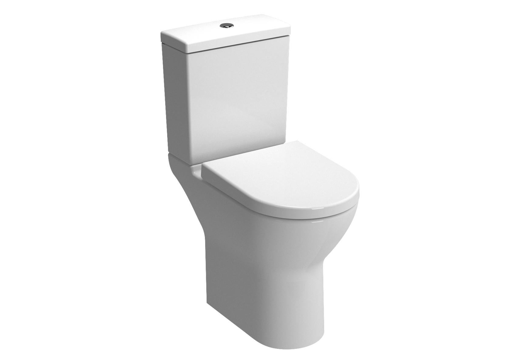 S50 Pack WC à poser sans bride, 65,5 cm, caréné, S / H, abattant Duroplast