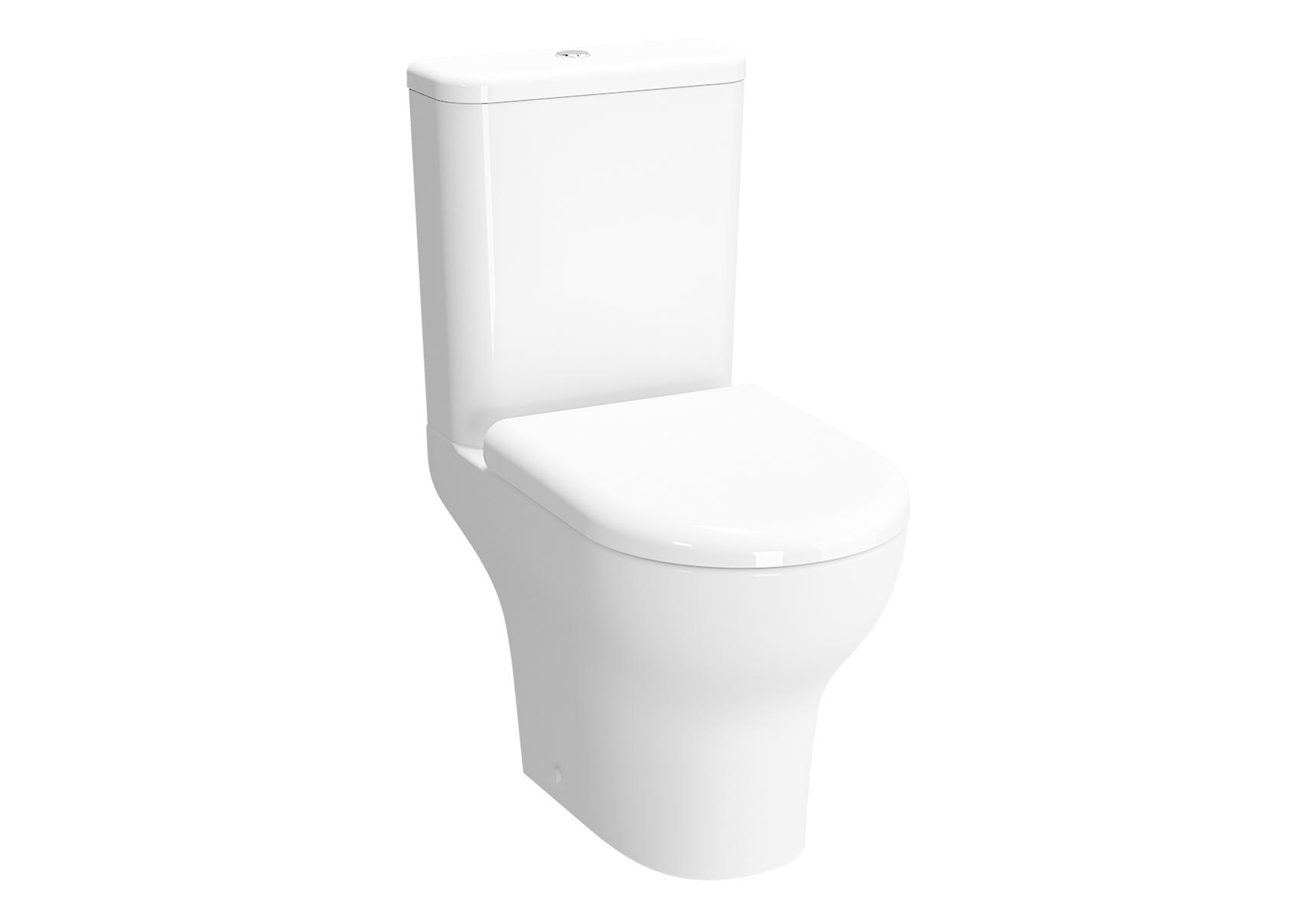 Zentrum Pack WC à poser, caréné sans bride, S / H, abattant Duroplast, fermeture douce