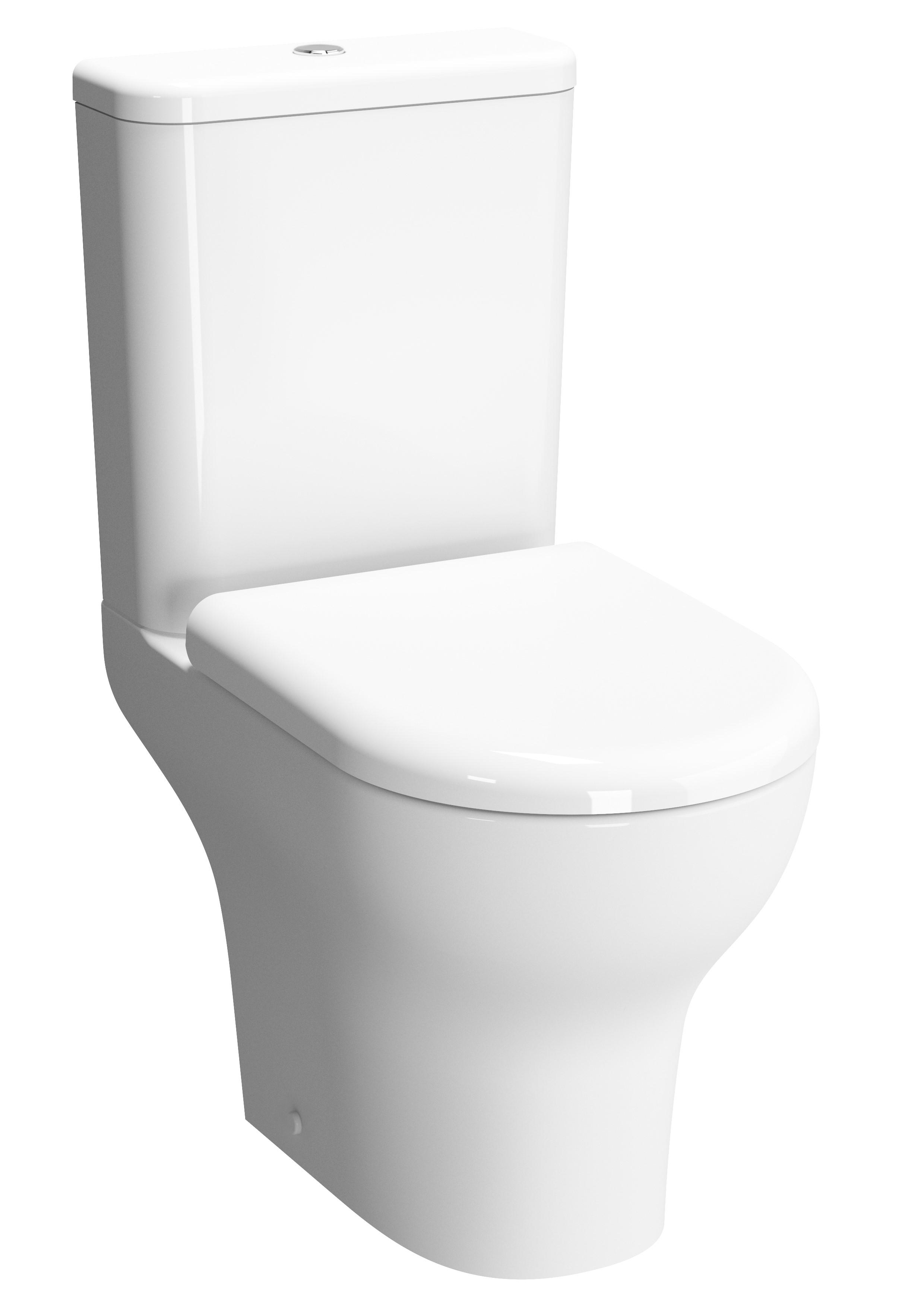 Zentrum Pack WC à poser, caréné, (VitrA Flush 2.0), S / H, fermeture douce