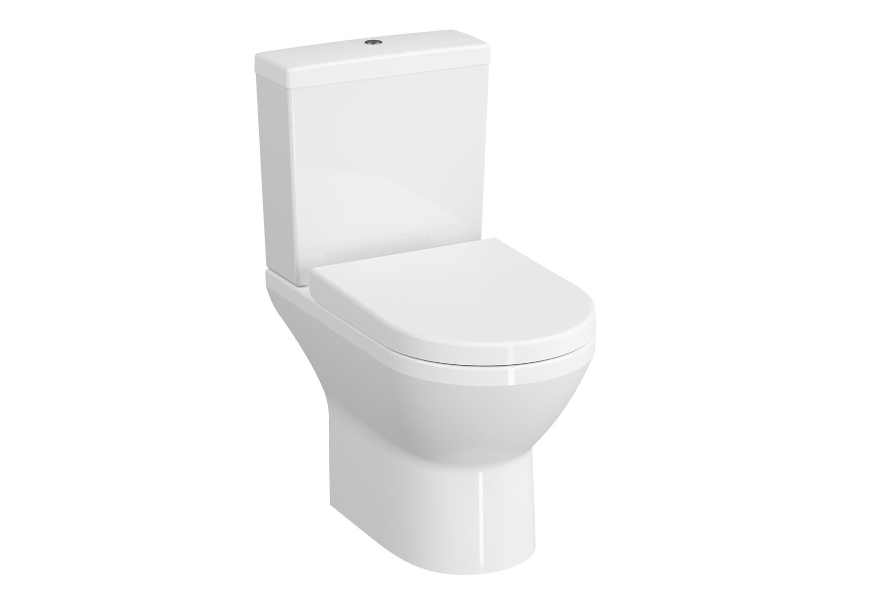 Integra Pack WC à poser open back, abattant Duroplast, fermeture douce, avec libération rapide
