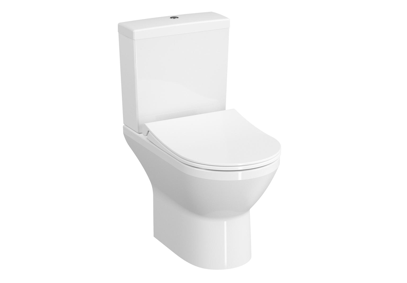 Integra Pack WC à poser open back, abattant Slim Duroplast, fermeture douce, avec libération rapide
