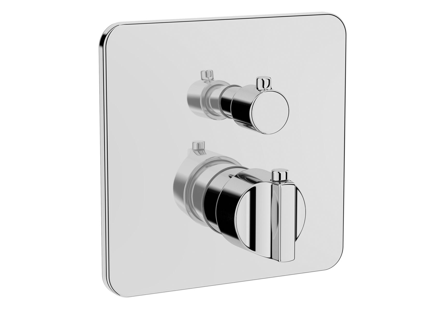 Suit L / U mitigeur thermostatique bain / douche à encastrer (pour V-Box)