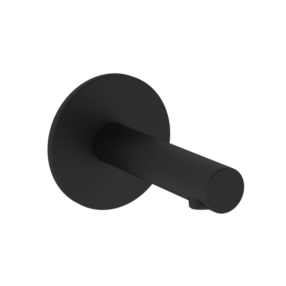 Origin Wanneneinlauf Ausladung Auslauf, 11,5 cm, Schwarz Matt