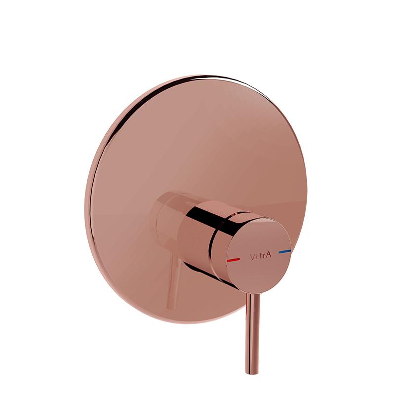 Origin mitigeur thermostatique douche à encastrer (pour V-Box), ronde, surface cuivre