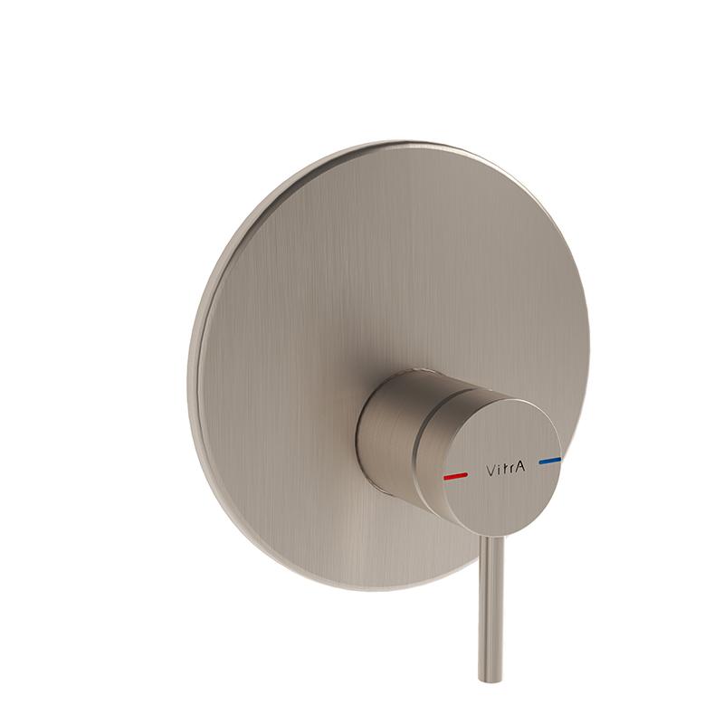 Origin mitigeur thermostatique douche à encastrer (pour V-Box), ronde, surface nickel brossée