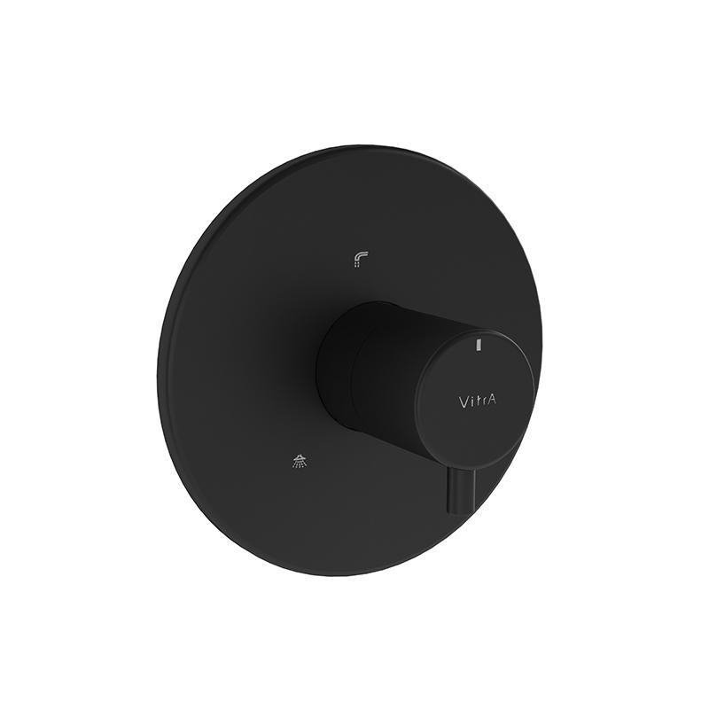 Origin inverseur à encastrer (pour V-Box), ronde, surface noir mat