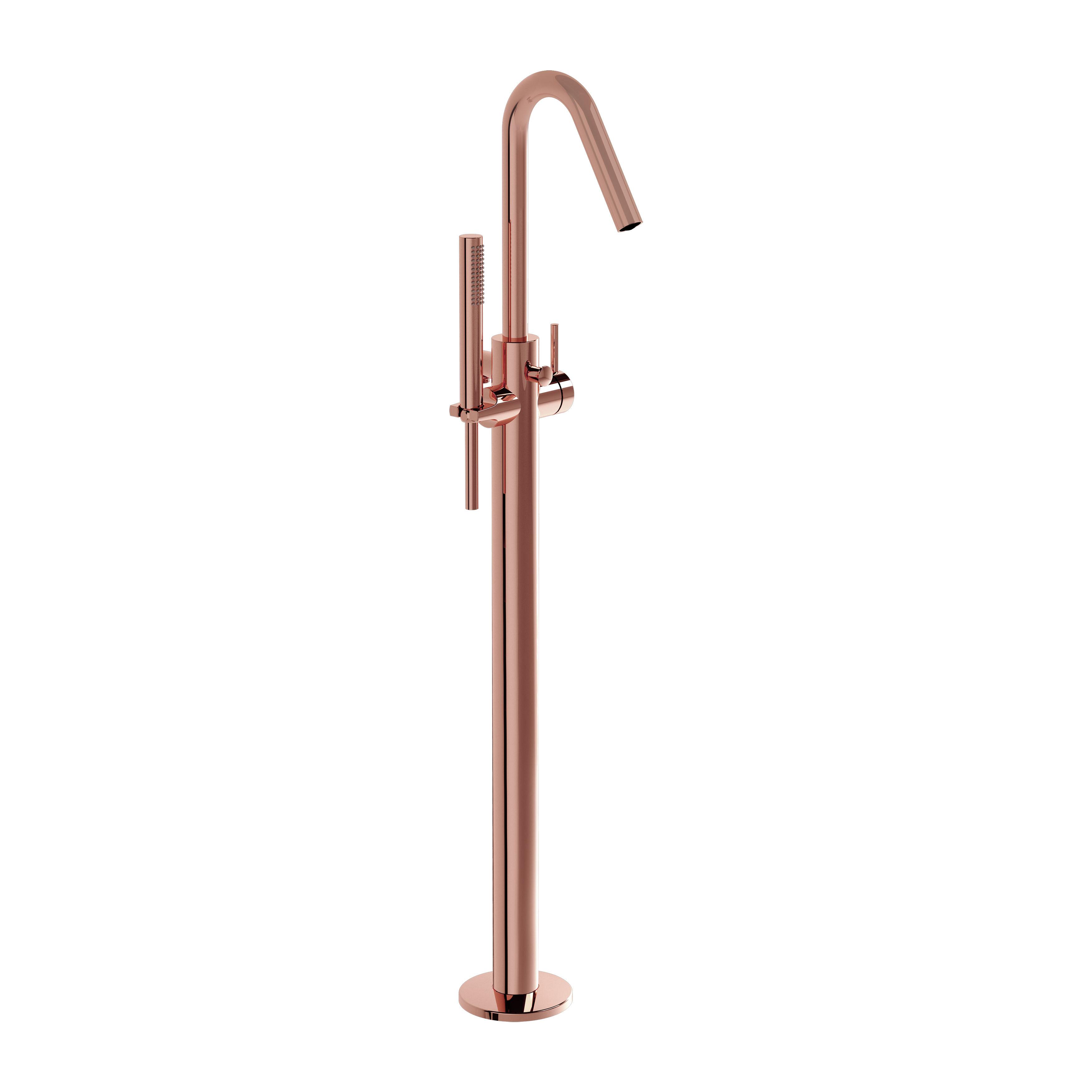 Origin mitigeur bain/douche au sol, cuivre