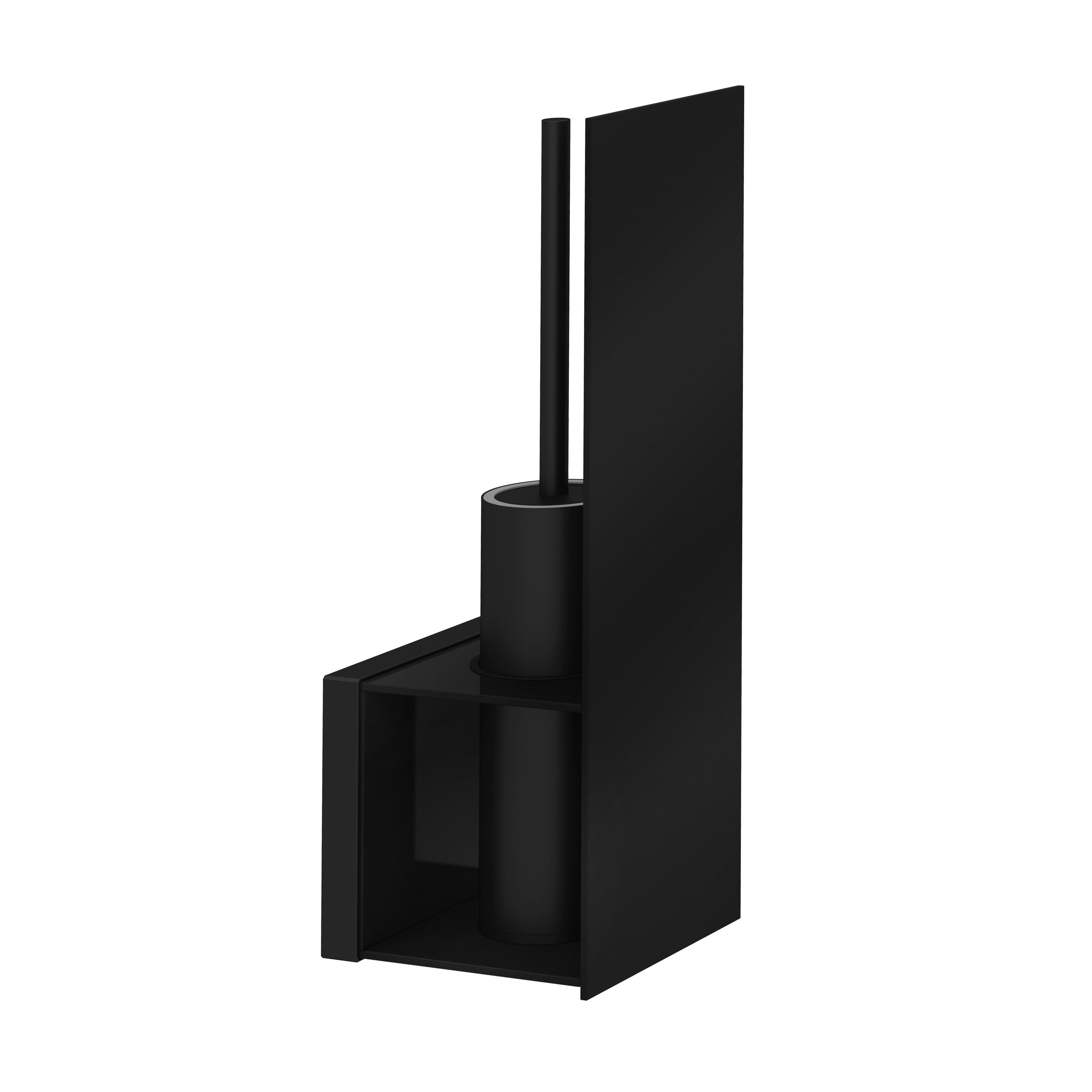 Voyage Porte-brosses WC, noir / noir