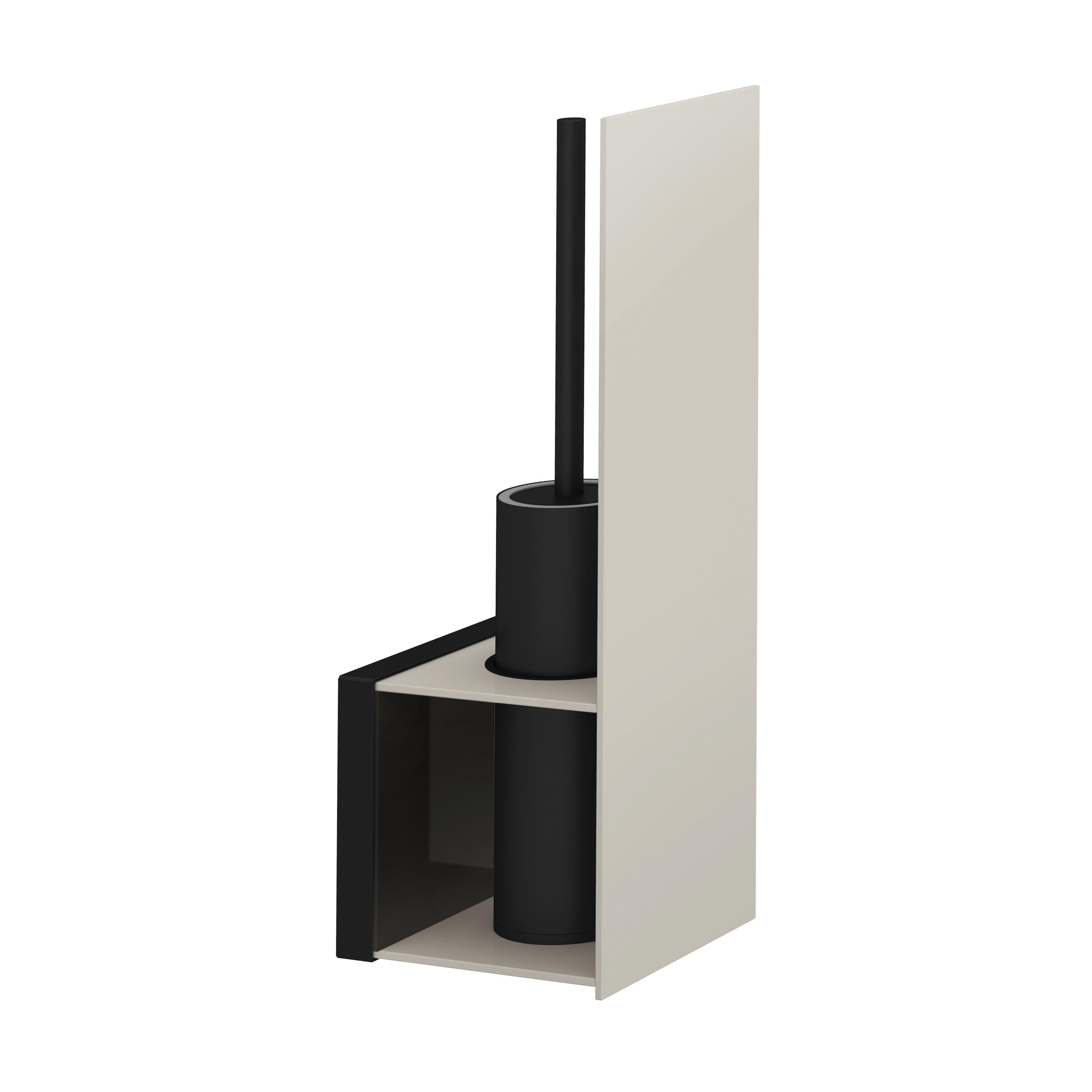 Voyage Porte-brosses WC, noir / taupe