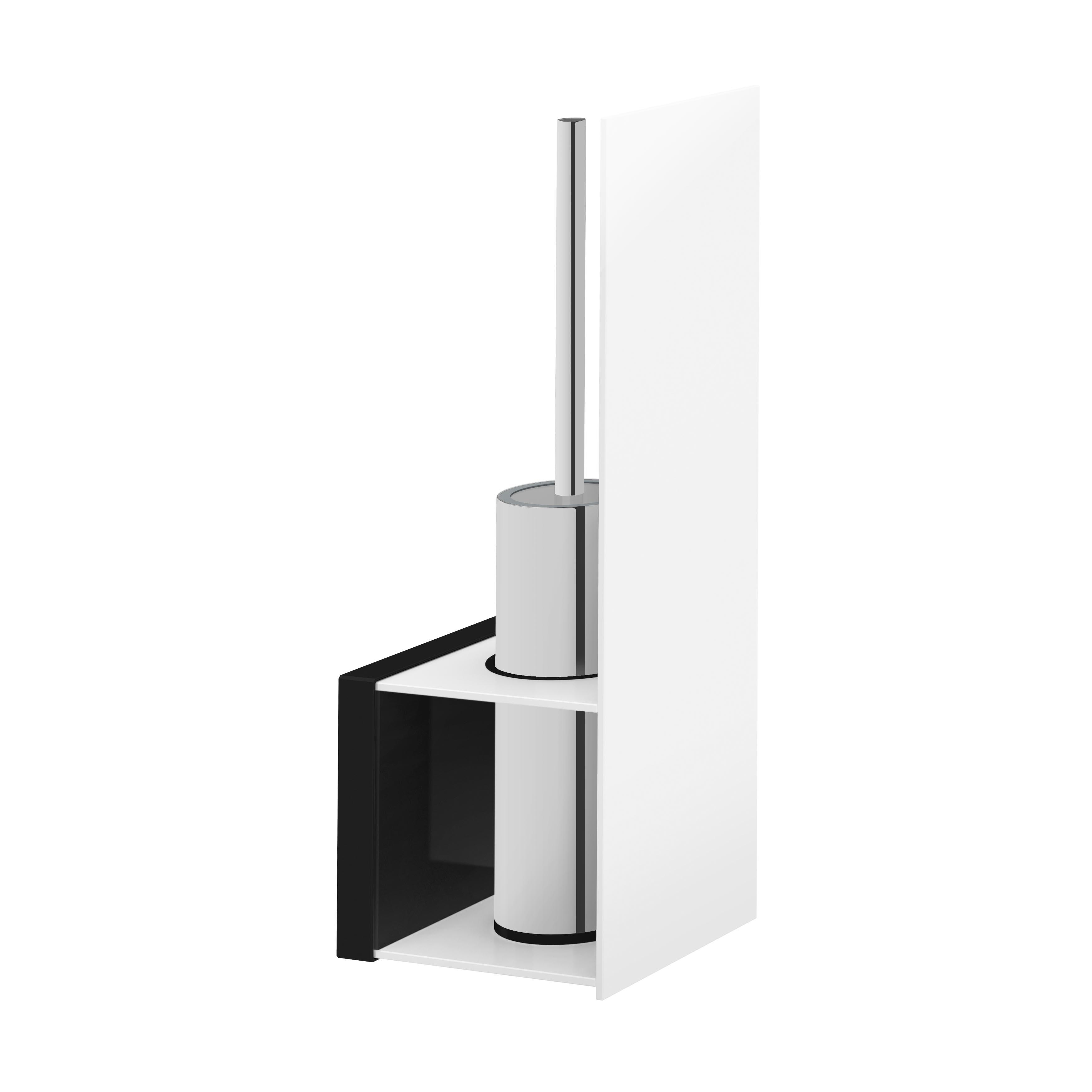 Voyage Porte-brosses WC, chromé / blanc
