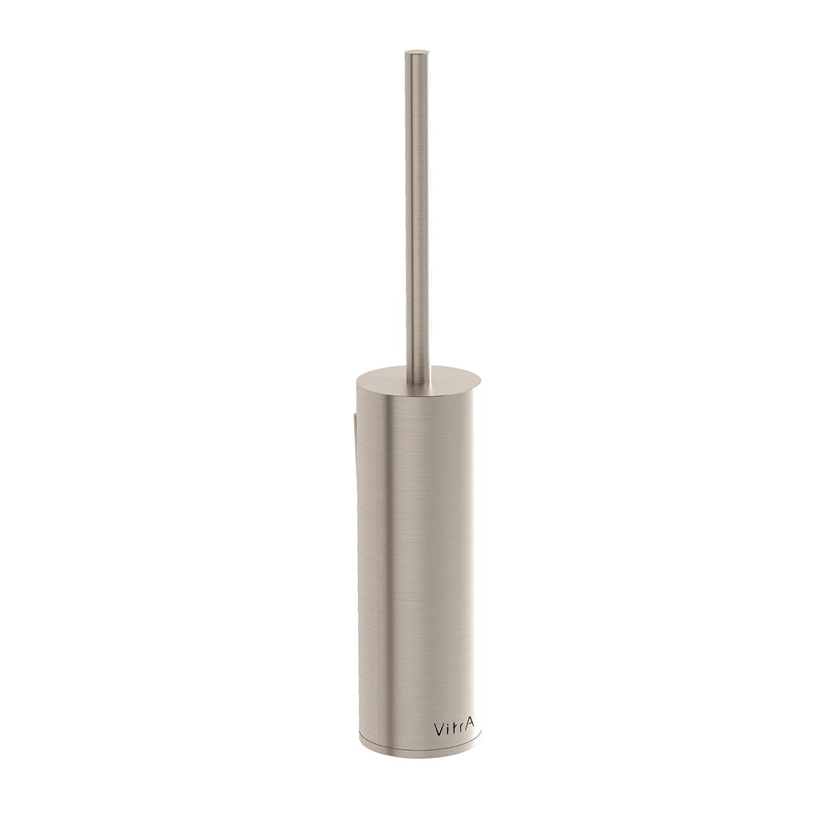 Origin WC-Bürstengarnitur bodenstehend, Ø 70 mm, Nickel gebürstet
