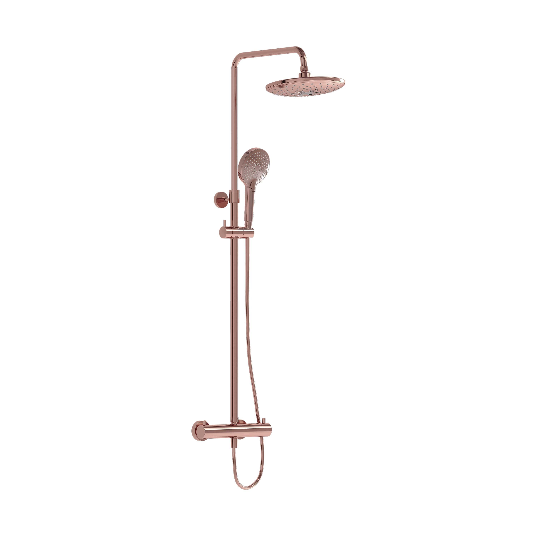 Aquaheat Bliss 240 2F colonne de douche, ronde, cuivre